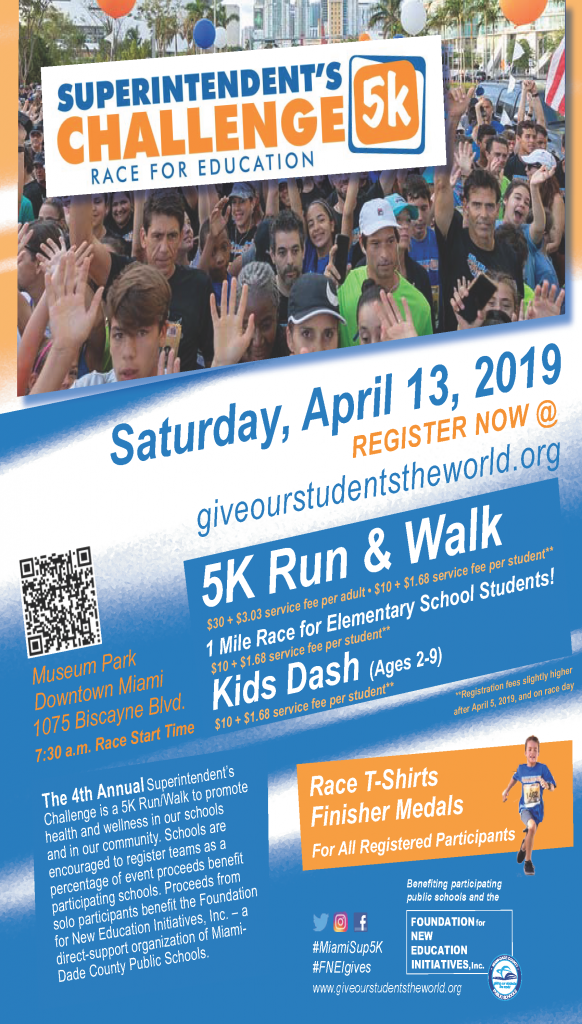 Superintendent's 5K Challenge Race For Education @ Museum Park | Miami | Florida | United States
